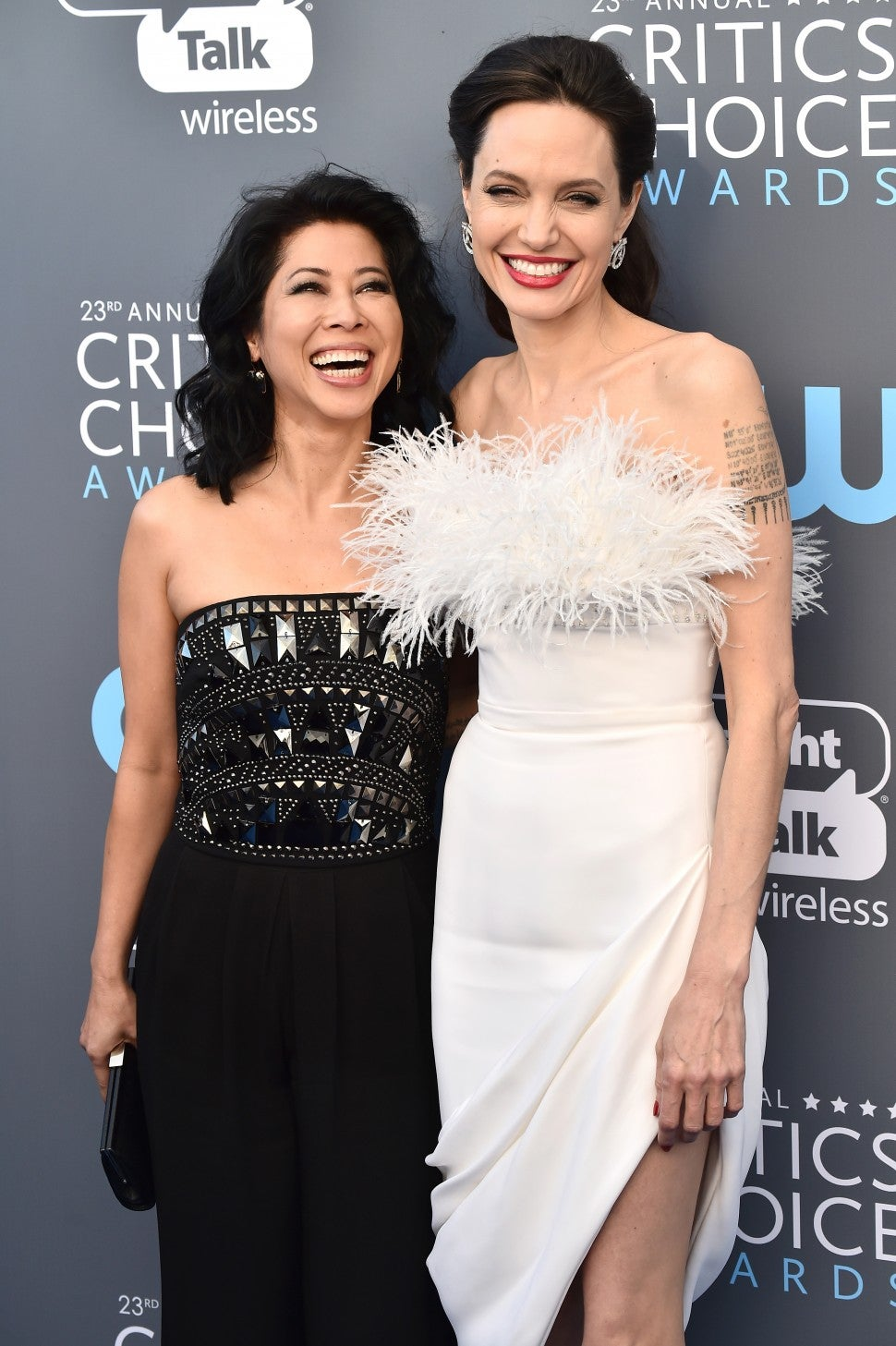 Loung Ung and actor Angelina Jolie Critics Choice