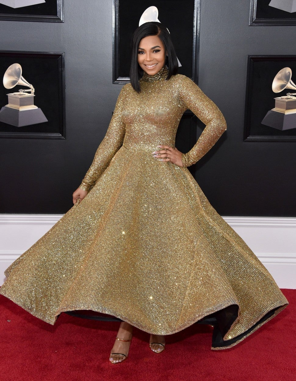 Ashanti at 2018 GRAMMYs
