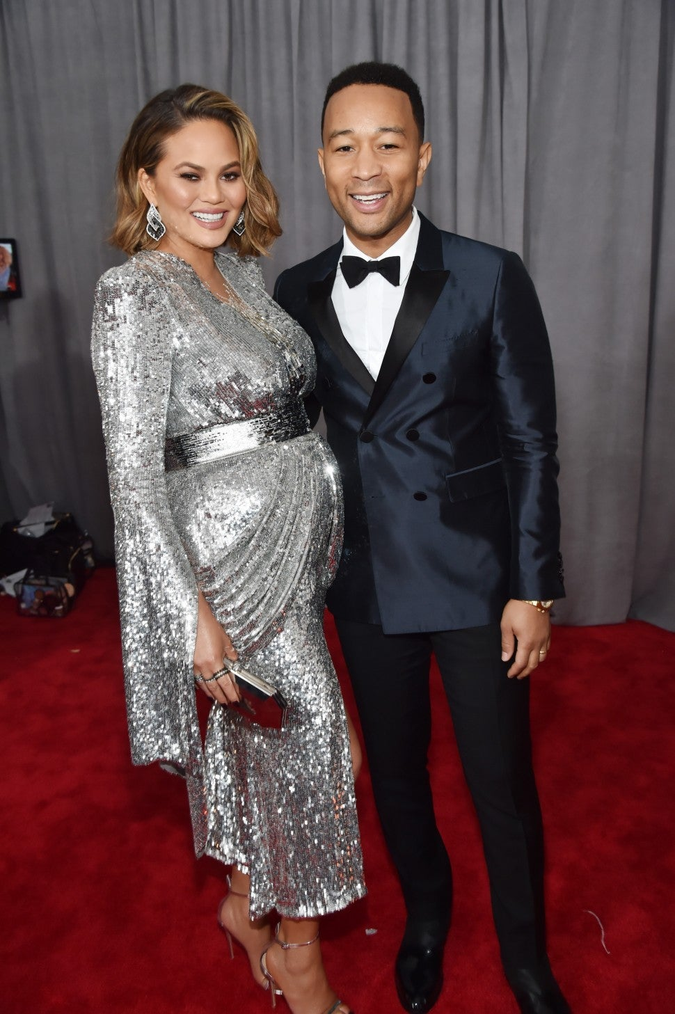 JOhn Legend and Chrissy Teigen 2018 GRAMMY Awards