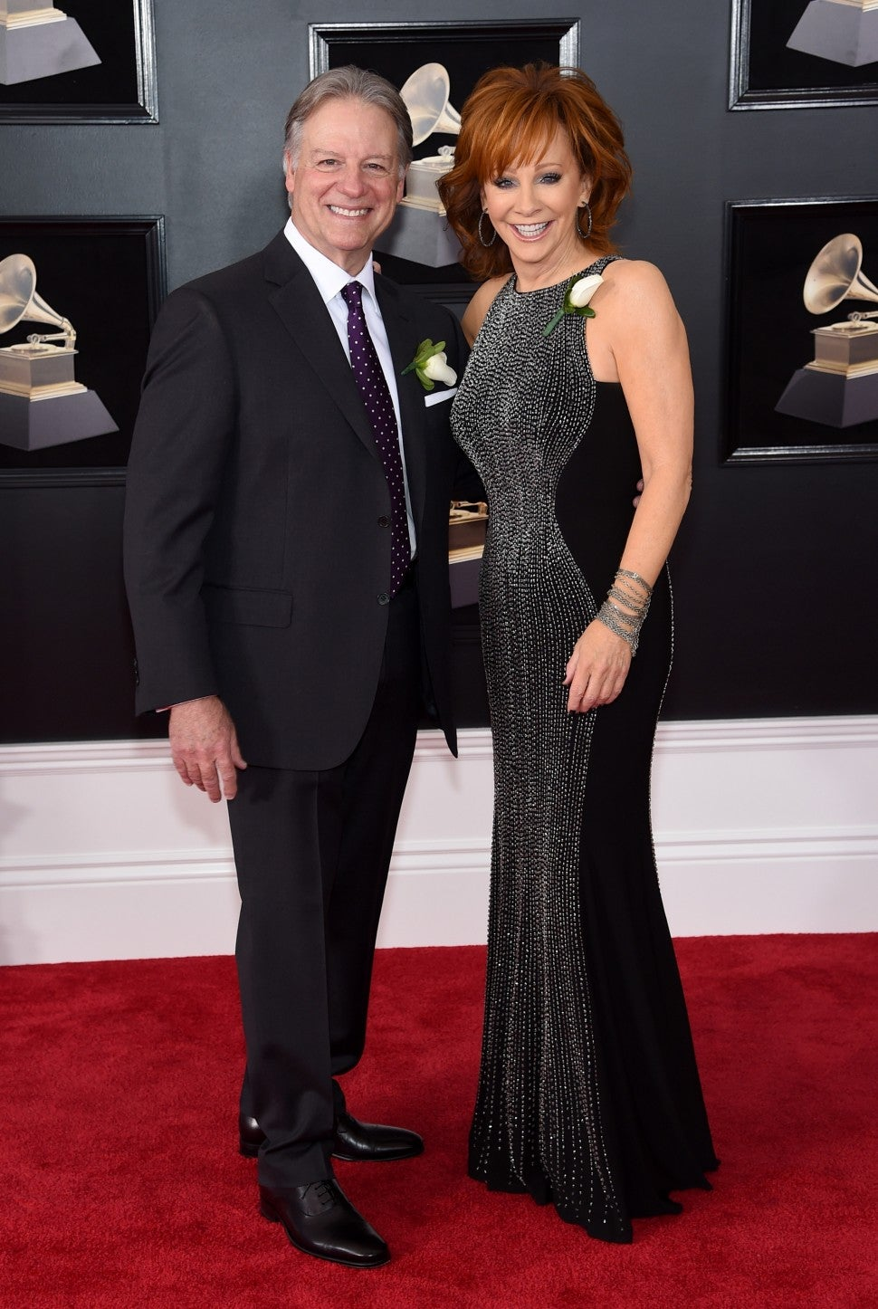 "Reba McEntire and Anthony ""Skeeter"" Lasuzzo attend 2018 Grammys"