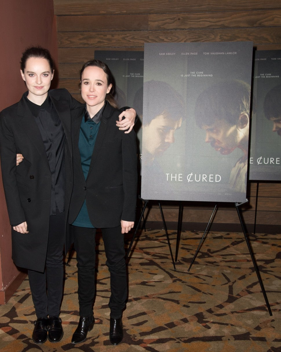 Ellen Page And Wife Emma Portner Share Sweet Kiss At Movie