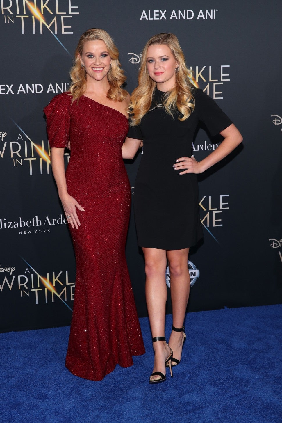 Reese Witherspoon and Ava Phillippe at A Wrinkle In Time premiere