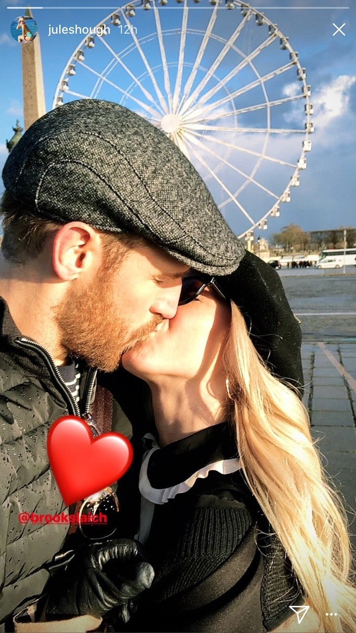 ulianne Hough and husband, Brooks Laich, share some intimate photos from Paris