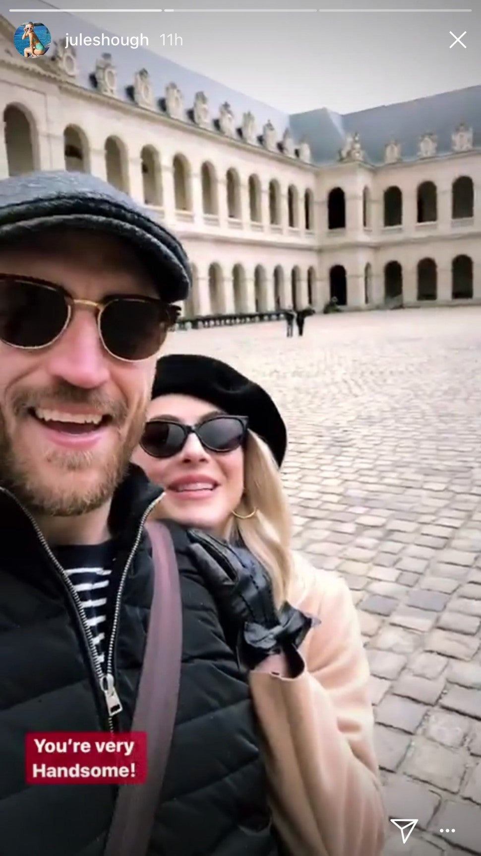 Julianne Hough and husband, Brooks Laich, share some intimate photos from Paris