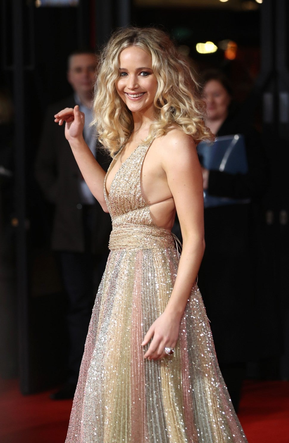 Jennifer Lawrence Stuns in Glittering Gown at Red Sparrow