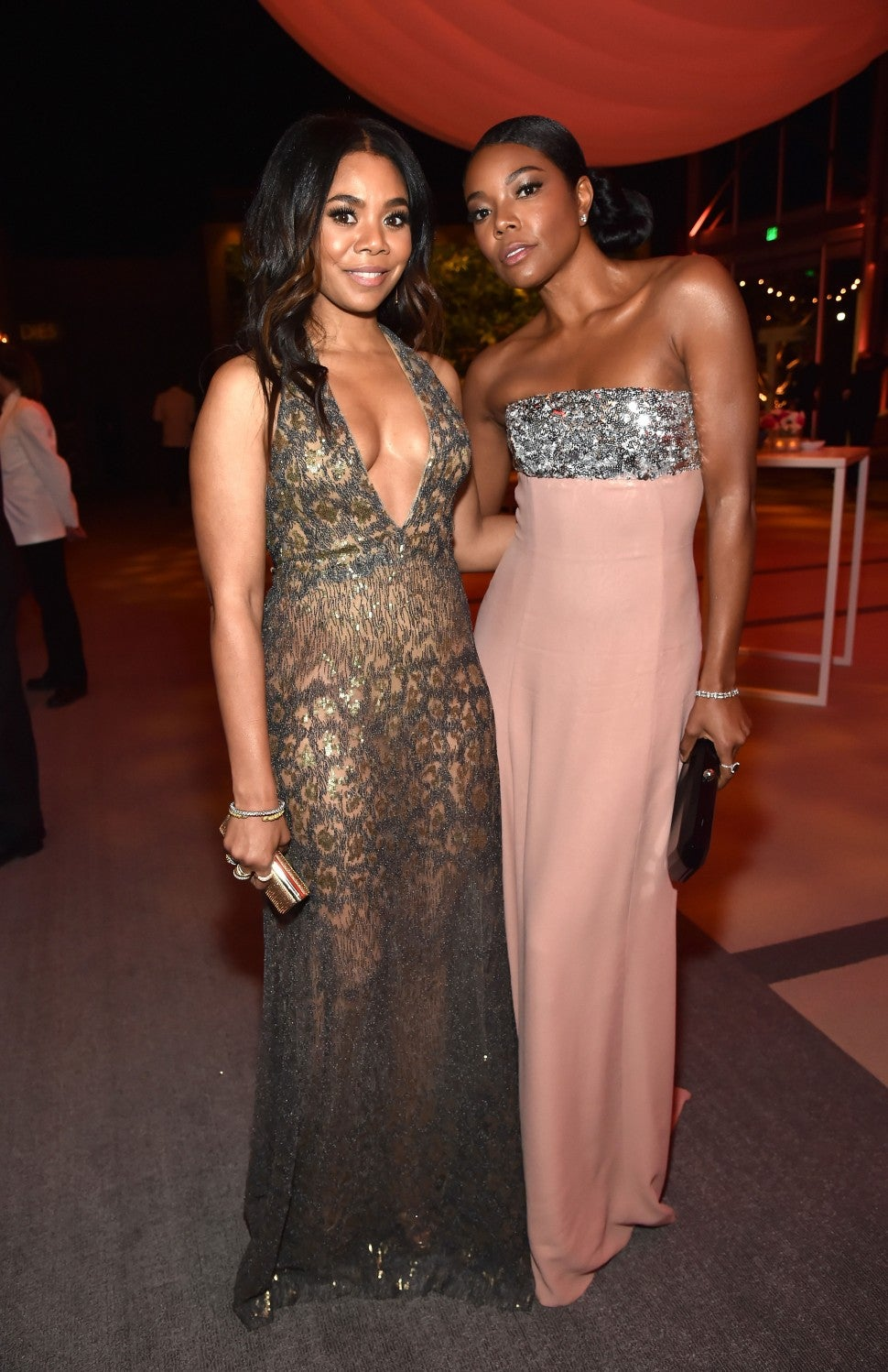 Regina Hall and Gabrielle Union at the 2018 Vanity Fair Oscars Party