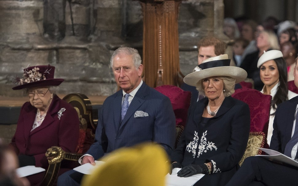 Queen Elizabeth and Meghan Markle at Commonwealth Day
