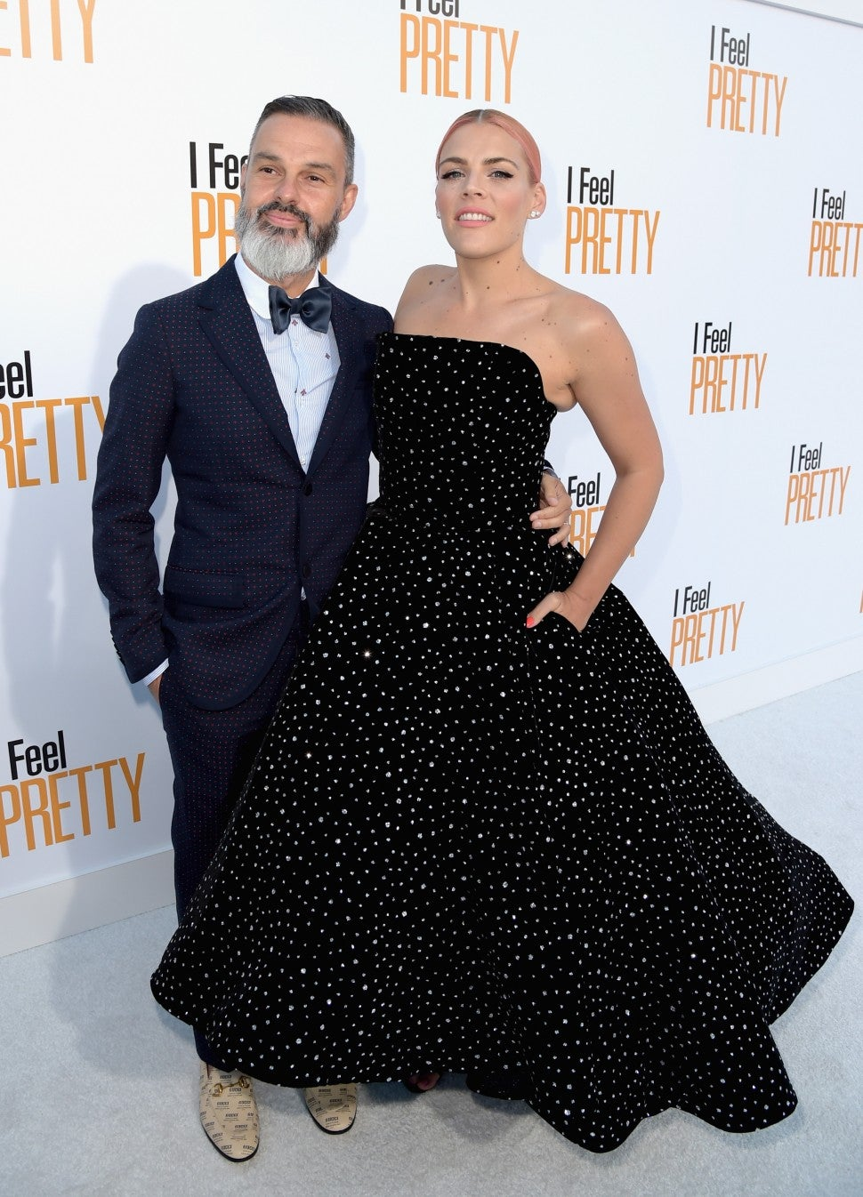 Busy Philipps and husband at I Feel Pretty premiere
