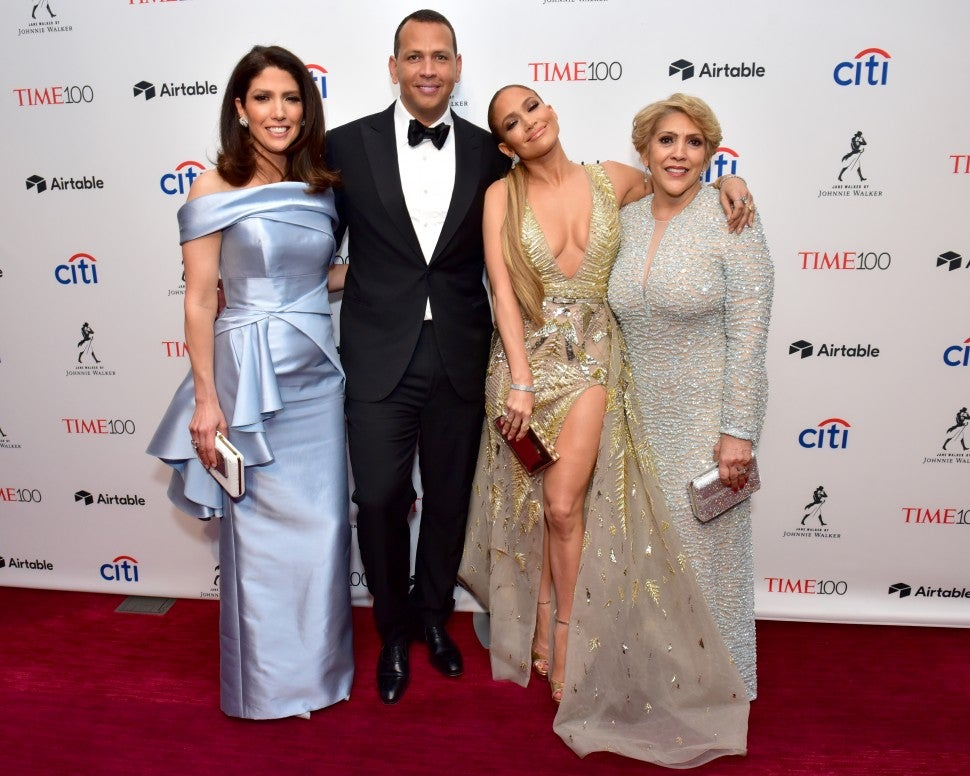 Jennifer Lopez Alex Rodriguez and Her Family
