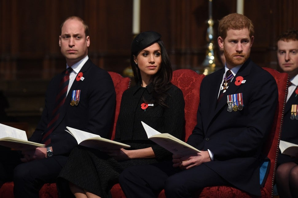 Prince William, Meghan Markle and Prince Harry