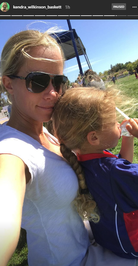 Kendra Wilkinson and daughter, Alijah