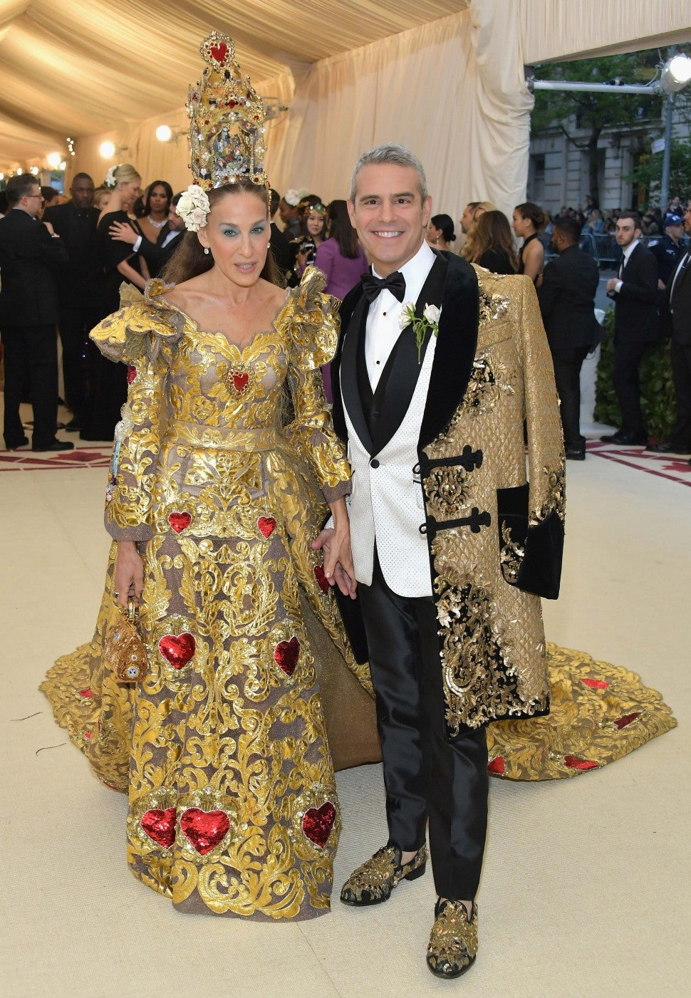 Sarah Jessica Parker and Andy Cohen at the 2018 Met Gala in New York