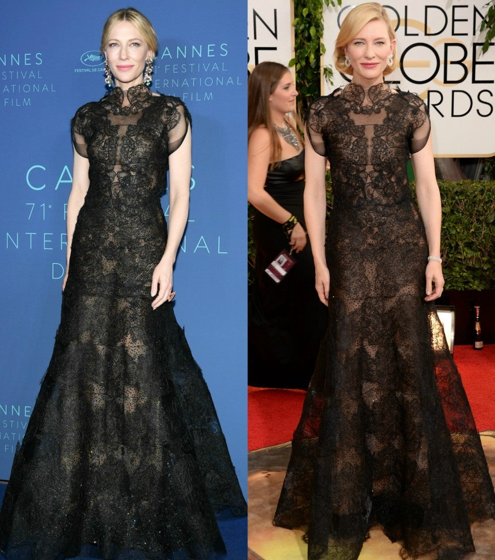 Cate Blanchett Cannes and Golden Globes