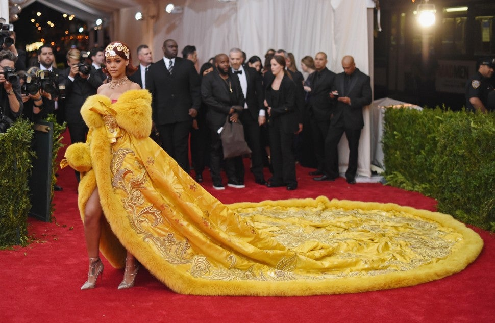Rihanna at Met Gala 2015