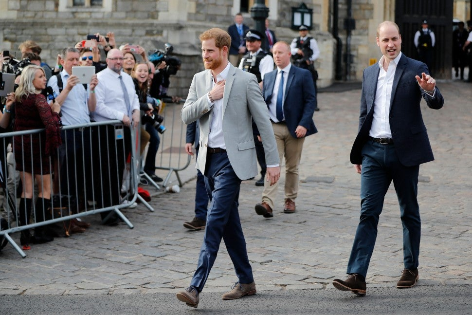 Prince Harry and Prince William at Windsor Castle