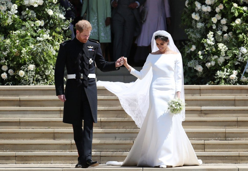 Prince Harry and Meghan Markle on wedding day