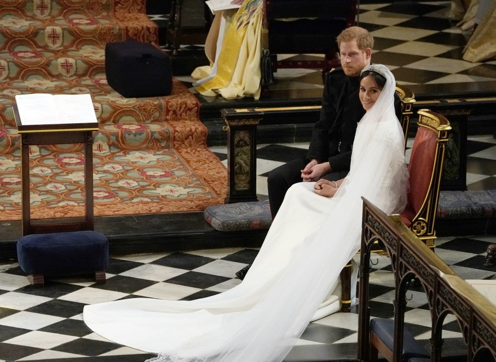 Meghan Markle and Prince Harry at their wedding.