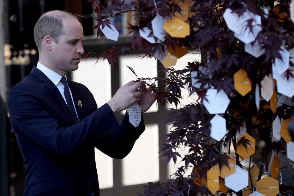Prince William commemorates the one-year anniversary of the Manchester bombing.
