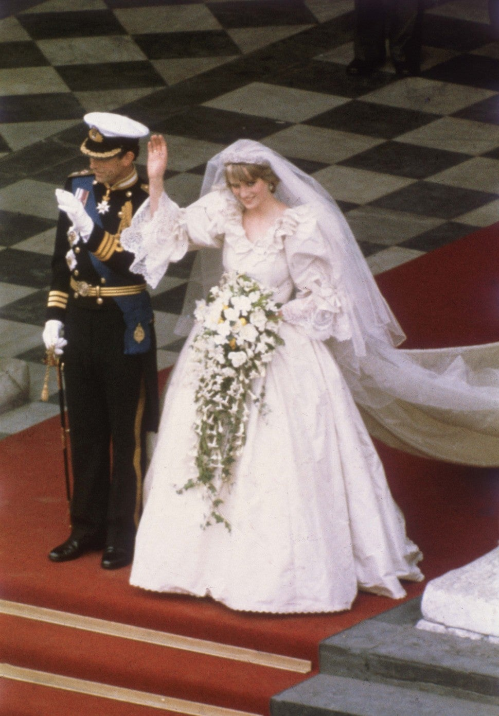 Princess Diana marries Prince Charles in London on July 29, 1981