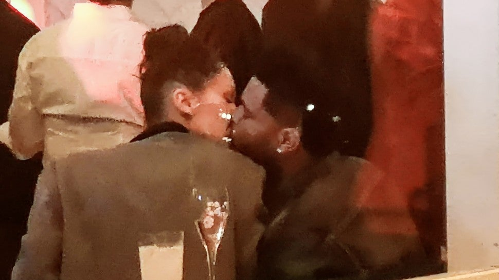 bella hadid the weeknd kissing cannes
