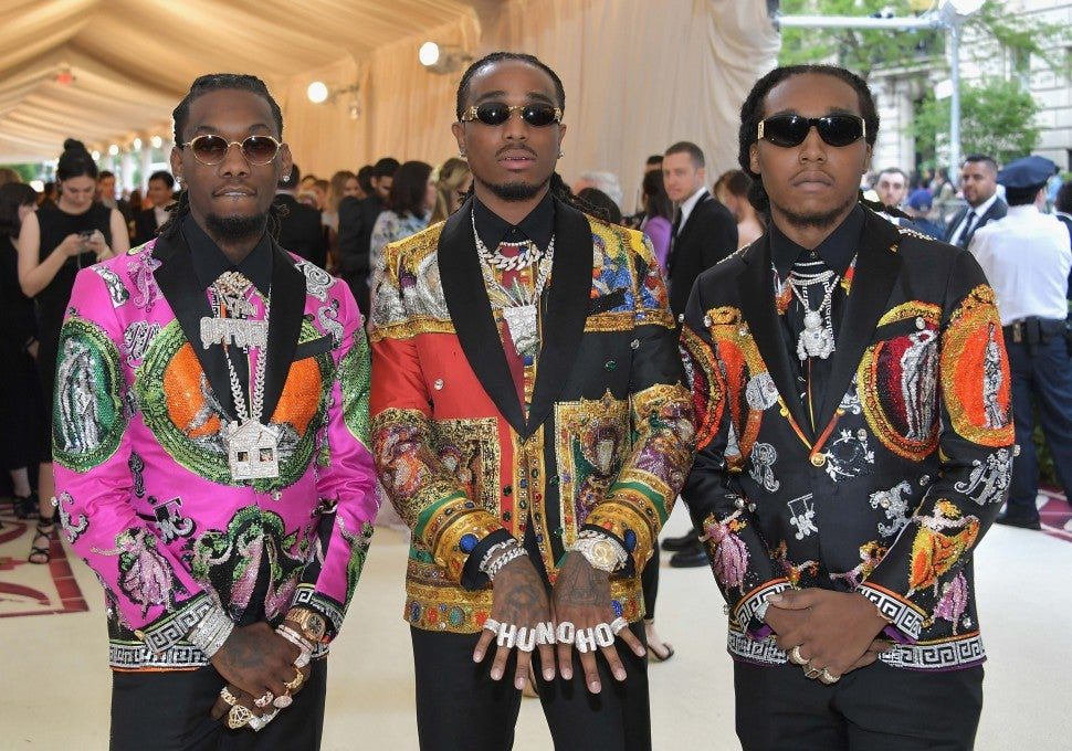 The Migos at the 2018 Met Gala in New York