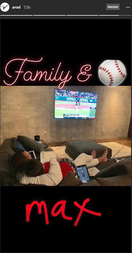Alex Rodriguez spending time with his family.