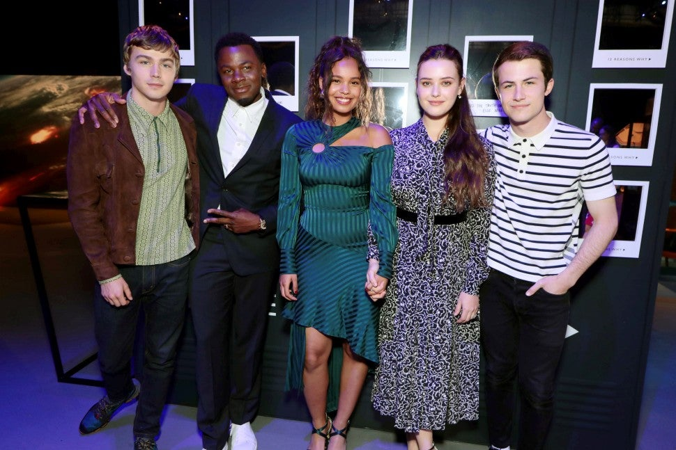 13 reasons why cast at fyc event