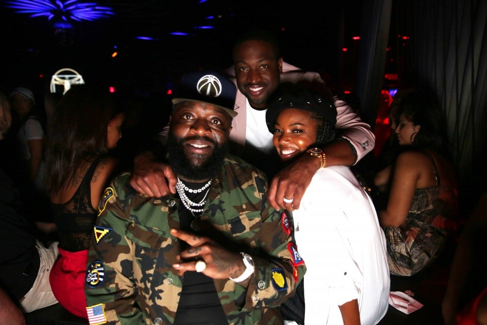 Gabrielle and Dwywane with Rick Ross