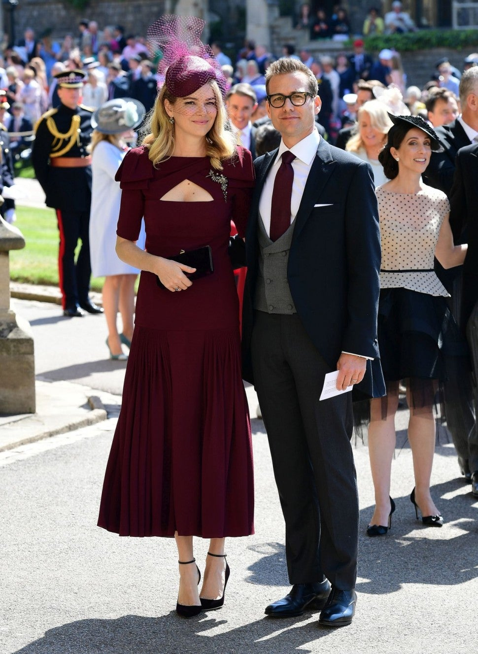 Gabriel Macht and his wife at Royal Wedding