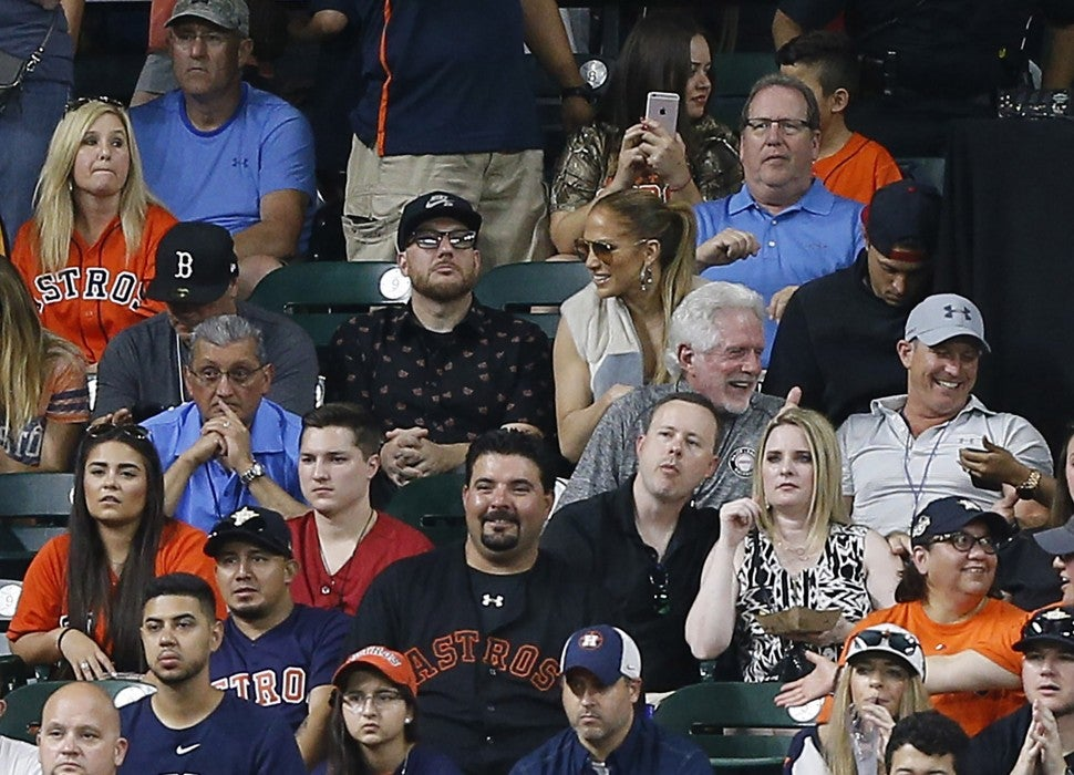 Jennifer Lopez at Houston Astros game