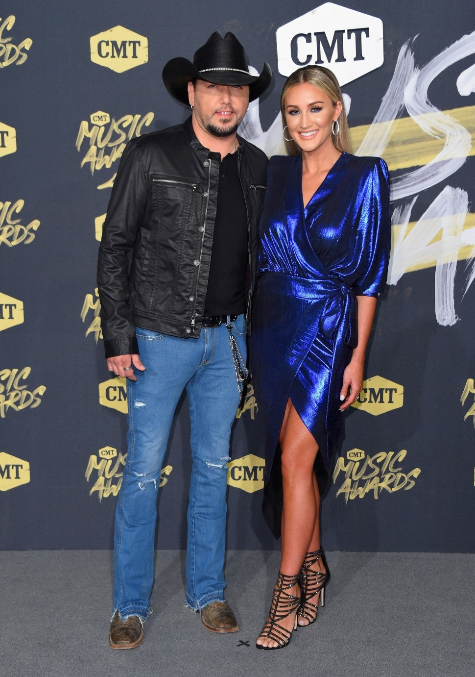 Jason Aldean and Brittany Kerr at 2018 cmt music awards