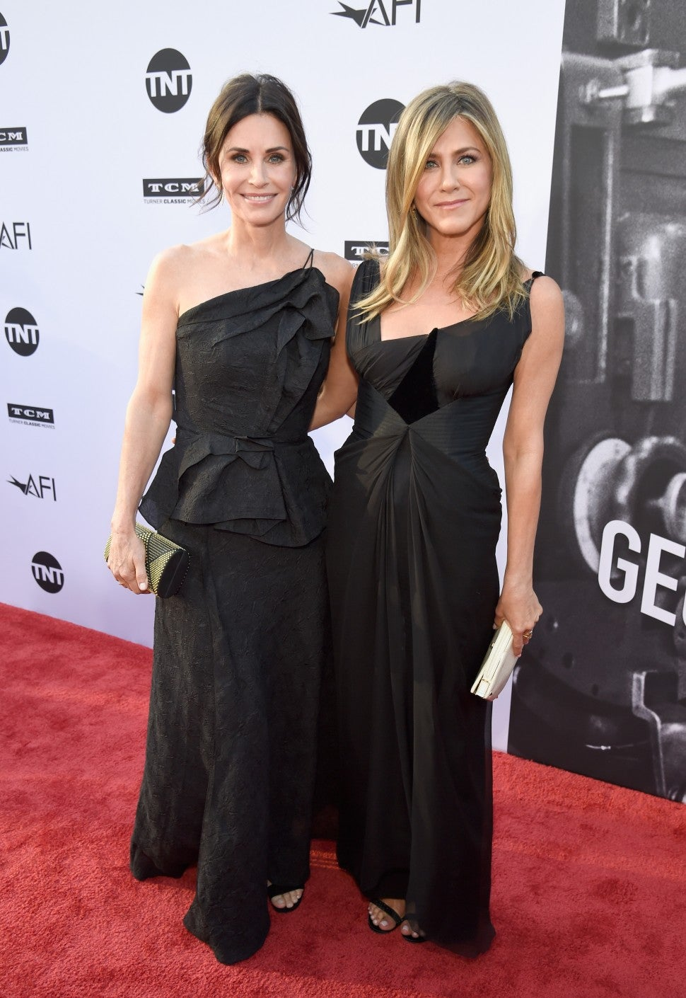 Courteney Cox and Jennifer Aniston attend the   American Film Institute's 46th Life Achievement Award Gala on June 7, 2018 in Hollywood, California.