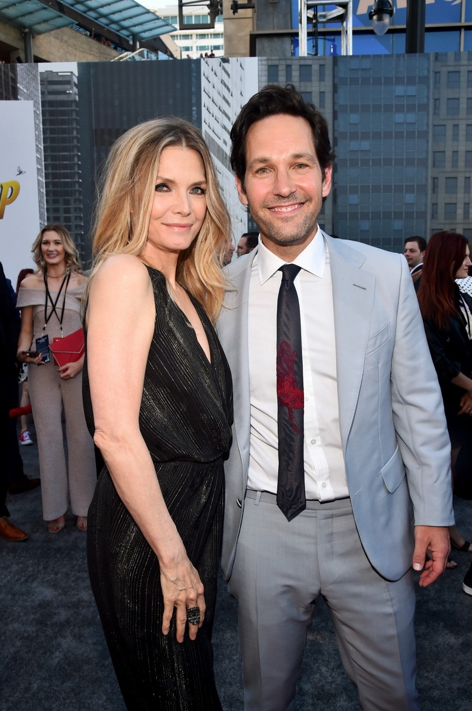 Michelle Pfeiffer and Paul Rudd at Ant-Man and the Wasp premiere
