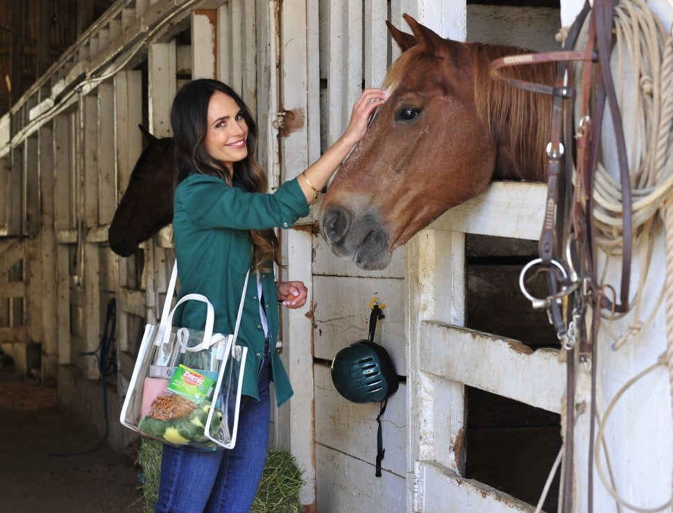 Jordana Brewster with horse