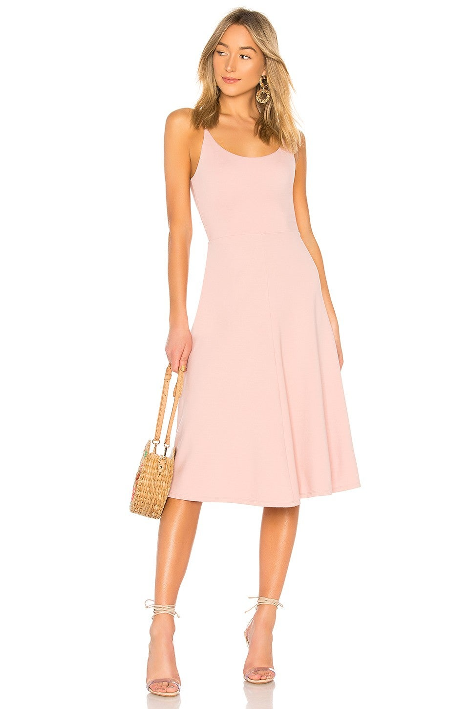 Privacy Please pink flared dress