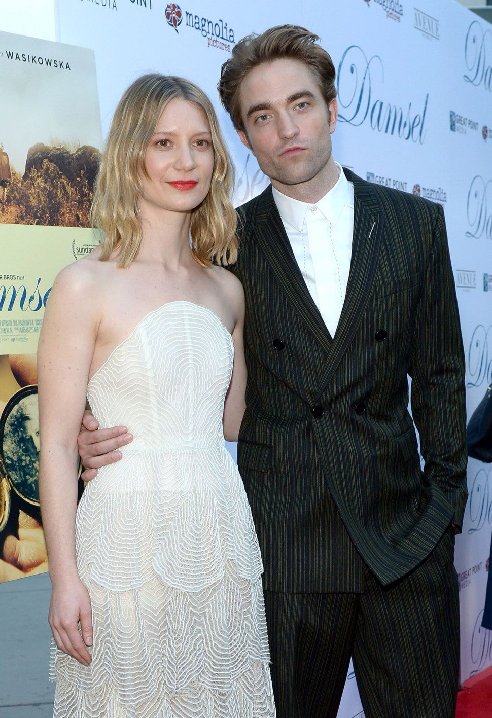 Mia Wasikowska and Robert Pattinson