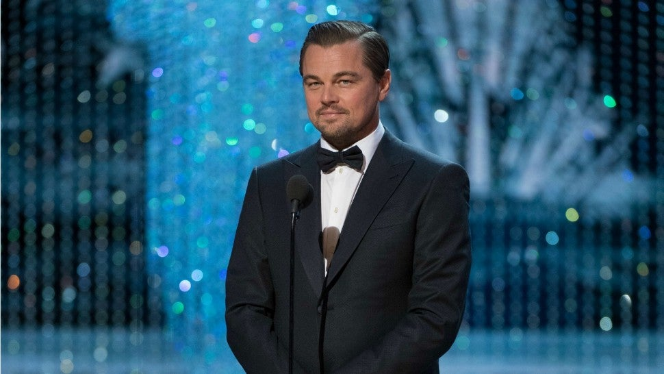 Leonardo DiCaprio at the 2017 Oscars.