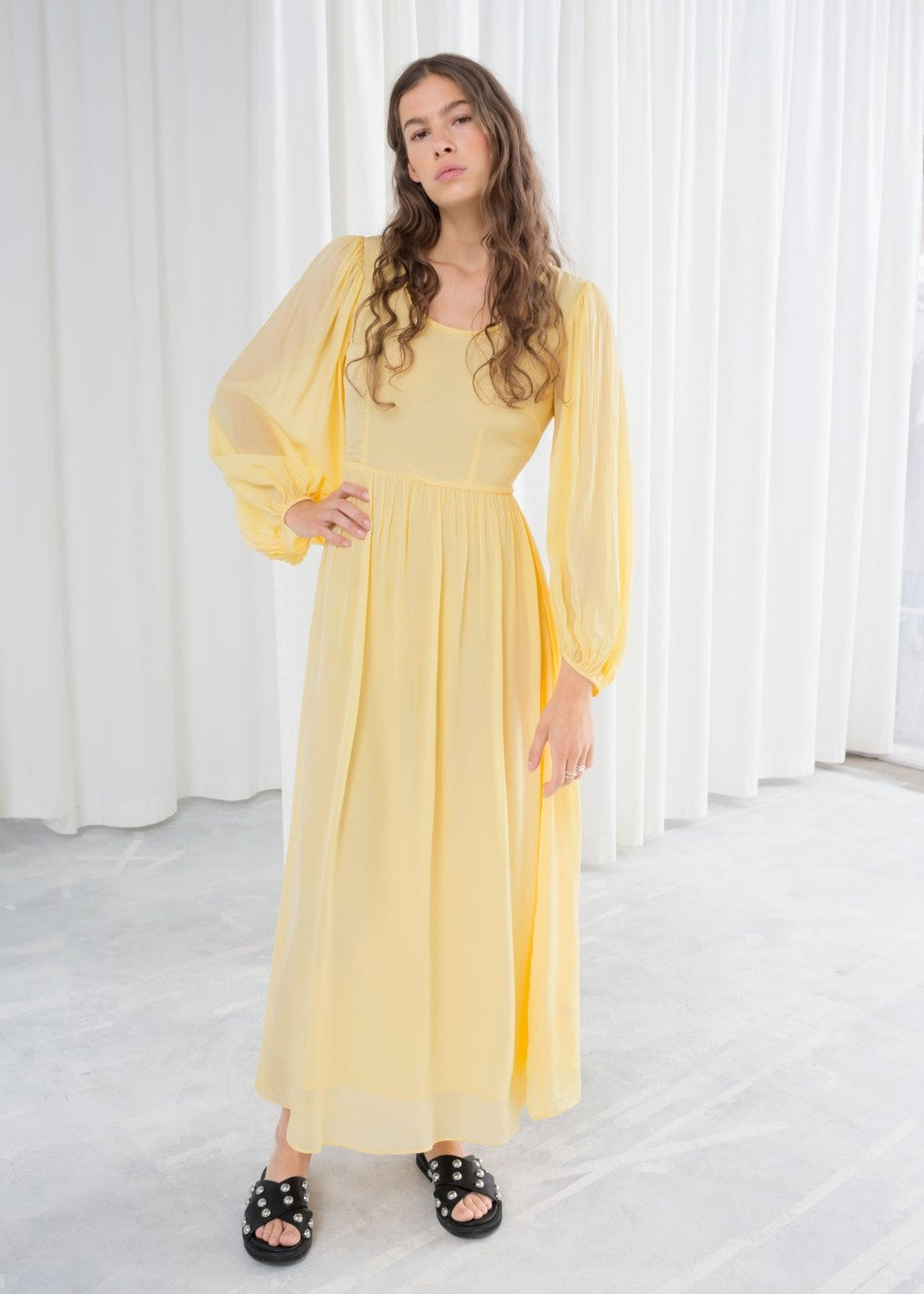 & Other Stories yellow maxi dress