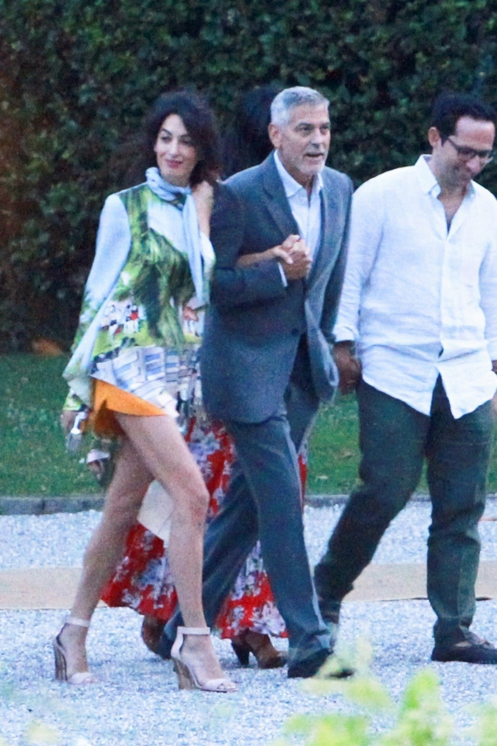 Amal Clooney in Monse with George Clooney in Italy