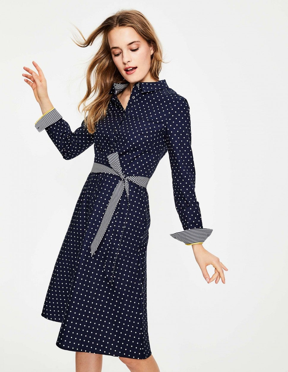 Boden polka dot shirtdress