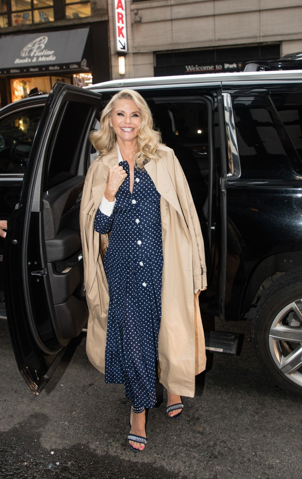 Christie Brinkley Alessandra Rich dress