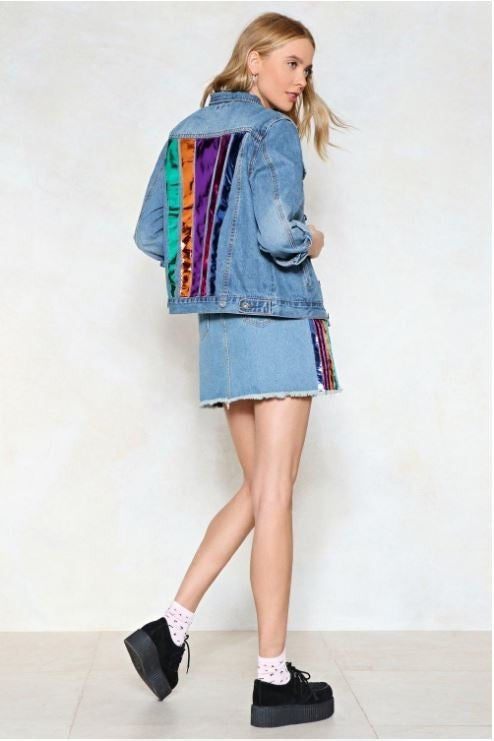 NASTY _GAL_SKIRT_JACKET_SET_MATCHING_RAINBOW