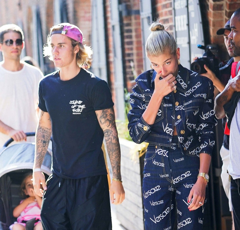 Justin Bieber and Hailey Baldwin in New York City on July 5