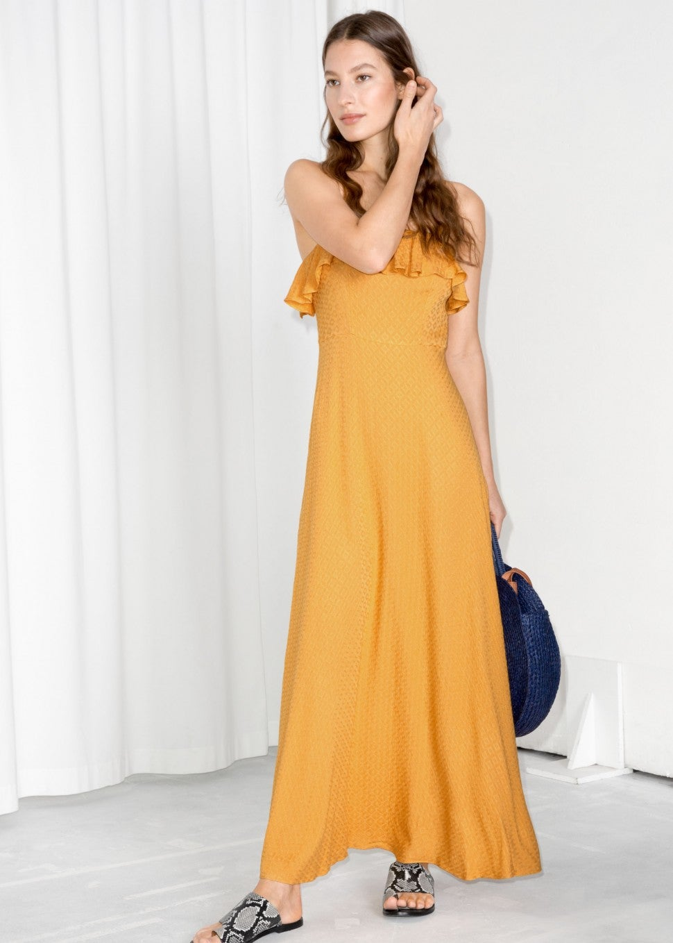 & Other Stories yellow maxi