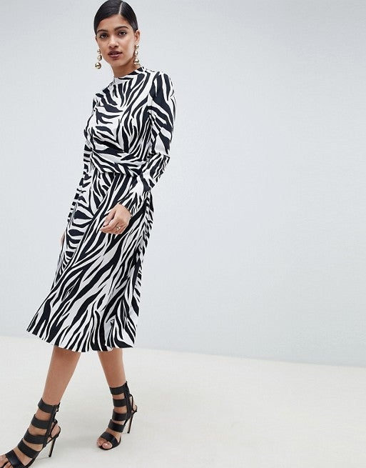 ASOS zebra print dress