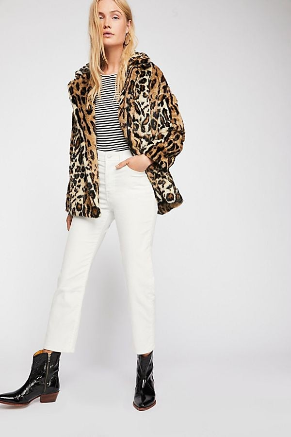 Free People leopard print coat
