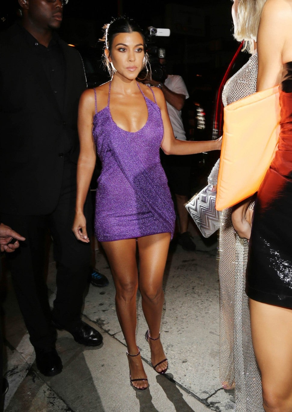 Kourtney Kardashian Kylie Jenner birthday dress