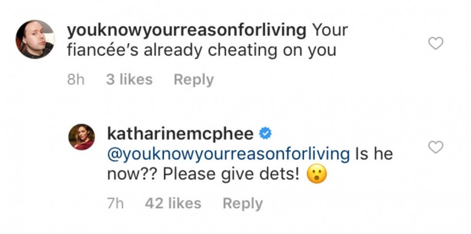 Katharine McPhee comments