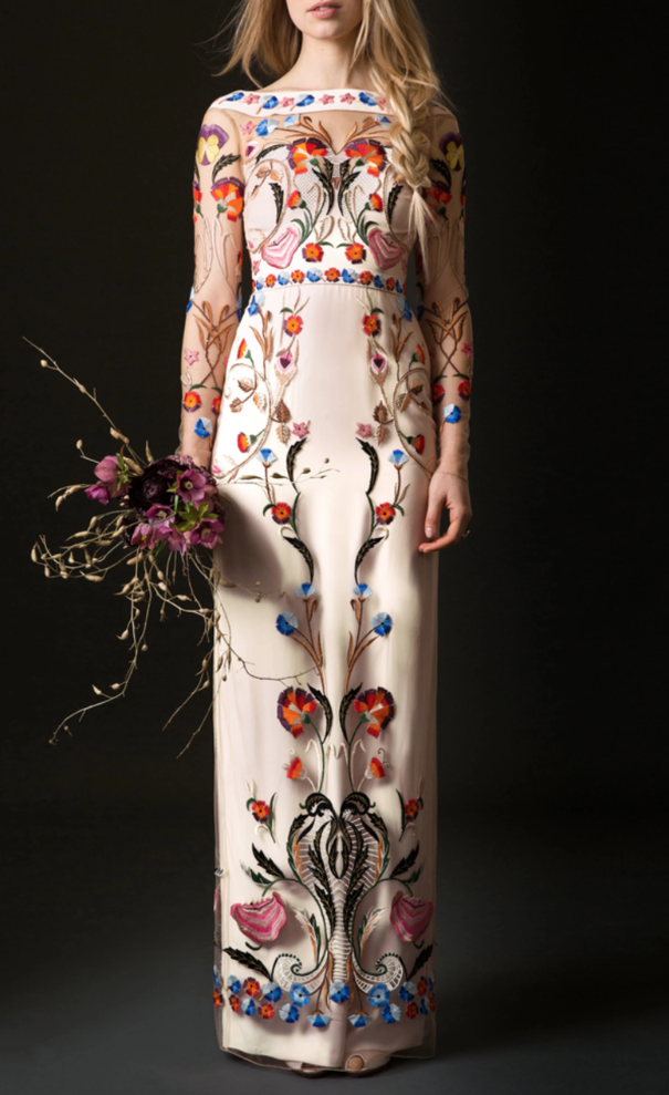 Temperley embroidered wedding dress
