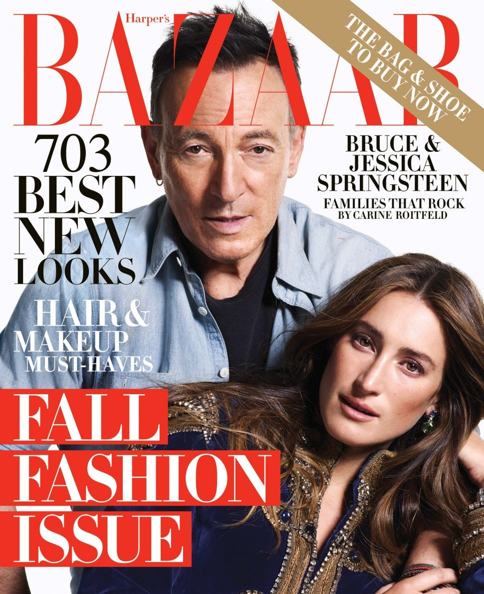 Bruce Springsteen and daughter Jessica cover 'Harper's Bazaar' September 2018 Issue